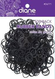 hair rubber bands diane rubber bands black 500 pack 500 ct rubber