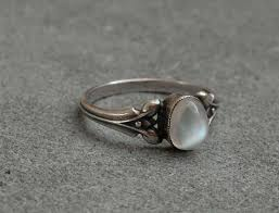 size 9 ring in uk antique arts and crafts moonstone silver ring uk size t us size