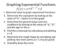 graphing exponential functions explain how to tell if an
