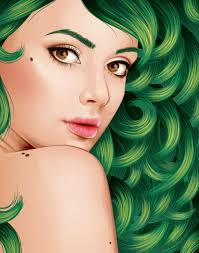 tutorial cara vector photoshop to create a vector portrait with curly hair in adobe illustrator