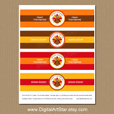 thanksgiving labels printable thanksgiving water bottle labels digital