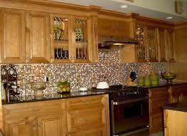 mosaic kitchen backsplash designs copper look backsplash mosaic