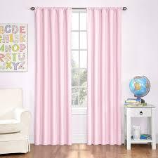 com eclipse kids microfiber room darkening window curtain panel 42 by 84 inch pink home kitchen