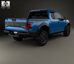 Ford Raptor Model Truck - ford f 150 super cab raptor 2017 3d model hum3d