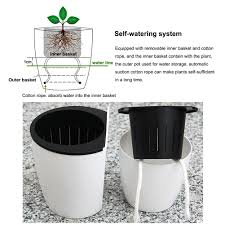 amazon com rely2016 self watering hanging flower planter pots