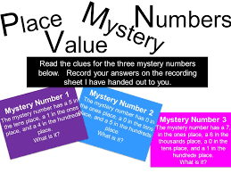 place value mystery number ones tens hundreds and thousands ppt