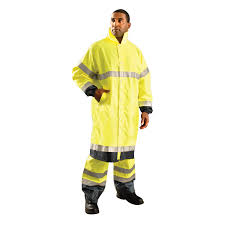 occunomix class 3 48 extended length high vis rain coat lux tjre