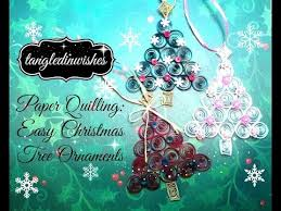 Easy Christmas Tree Decorations Paper Quilling Easy Christmas Tree Ornament Youtube