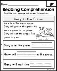 free reading comprehension passages word families u0026 blends