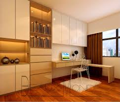 study room with customized top hung cabinets and full height