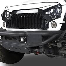jeep rubicon 2017 white w7 white front gladiator vader grille for jeep wrangler jk rubicon