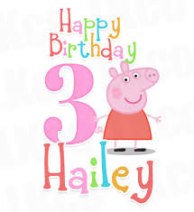 peppa pig birthday peppa pig iron on birthday shirt transfer rainbow style 02