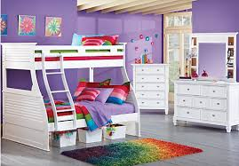 romms to go kids belmar white 6 pc bunk bedroom bedroom sets colors