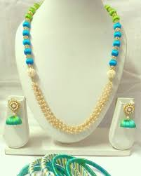 necklace making set images Silk thread necklace rs 600 set handmade jewellery making id jpeg