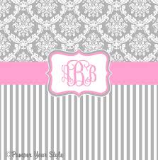 Pink And Gray Shower Curtain by Damask And Stripe Gray And Pink Shower Curtain Any Color Band