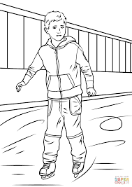 boy ice skater coloring page free printable coloring pages