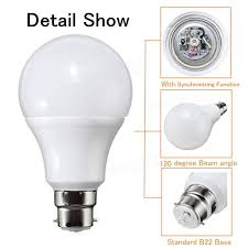 b22 5w dimmable rgb color changing led light lamp bulb remote