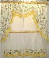 wonderful blue and yellow kitchen curtains decorating with kitchen