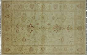 chobi 6x9 hand knotted ivory floral wool area rug