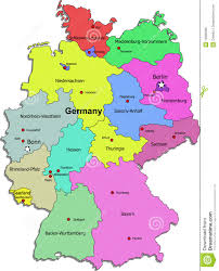 map of regions of germany germany map on white background stock vector illustration 12990388