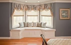 window treatmetns how to solve the curtain problem when you have bay windows