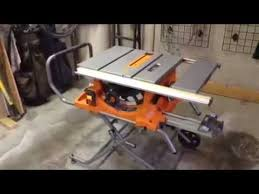 Ridgid Table Saw Extension Rigid R4513 Table Saw Youtube