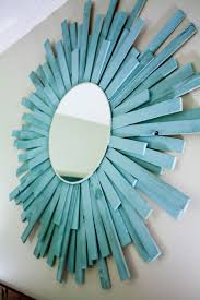 Ideas For Wall Decor by Decorating Easy Decor Idea With Diy Mirror Made Of Wood Clads