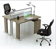 bureau 2 personnes éphémère bureau cloison de verre avec tiroir pour 2 personnes