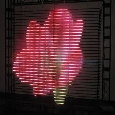 Curtain Led Display Visualpower Steel Hanging Led Curtain Media Facade Led