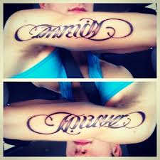 family forever ambigram tattoos
