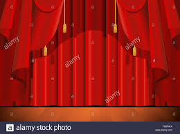 illustration of a closed red stage curtain as a background stock