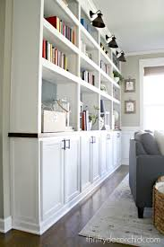 how to create custom built ins with kitchen cabinets from thrifty