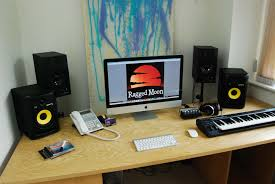 Studio Monitor Desk by Ragged Moon Limited Recording Stroud