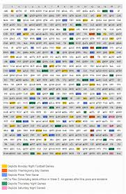 2014 nfl schedule grid legion report