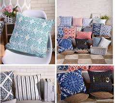 Leather Sofa Seat Cushion Covers by Adults Age Group And Square Shape Screen Printed Cotton Linen