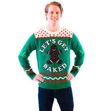 sweater walmart let s get baked gingerbread green sweater