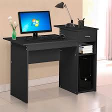 Small Wood Computer Desk Yaheetech Home Office Small Wood Computer Desk With Drawers And