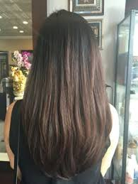 back of hairstyle cut with layers and ushape cut in back new haircut layered hair medium length straight ends low