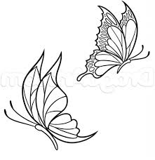small butterfly drawing free printable butterfly coloring pages