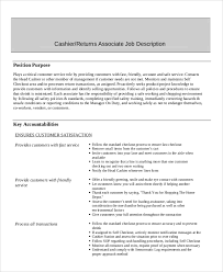 Job Description For Cashier For Resume by Sample Cashier Resume 7 Examples In Word Pdf