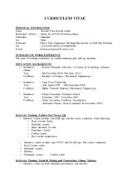 diploma mechanical engineering resume samples resume