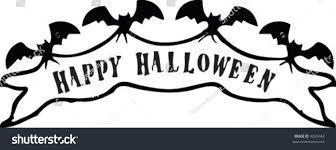 happy halloween vector happy halloween banner supported by bats stock vector 4629442