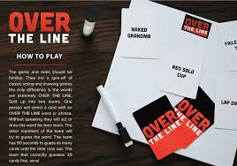 amazon com over the line party game a combinaton of charades