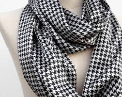 houndstooth scarf etsy
