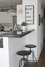 faux shiplap walls kitchen bar area for farmhouse cottage faux shiplap walls kitchen bar area for farmhouse cottage look