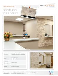 medical waiting room in soothing latte accentstone realstone systems
