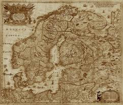 Map Of Northern Europe Old Map Of Northern Europe In The Style Of The Lord Of The Rings