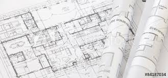 architectural plan architect rolls and architectural plan technical project drawing