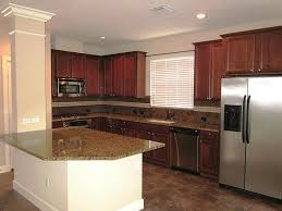 Mahogany Kitchen Cabinet Doors by Beautiful Red Color Mahogany Wood Kitchen Cabinets Featuring Black