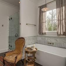 gray linen short curtains design ideas
